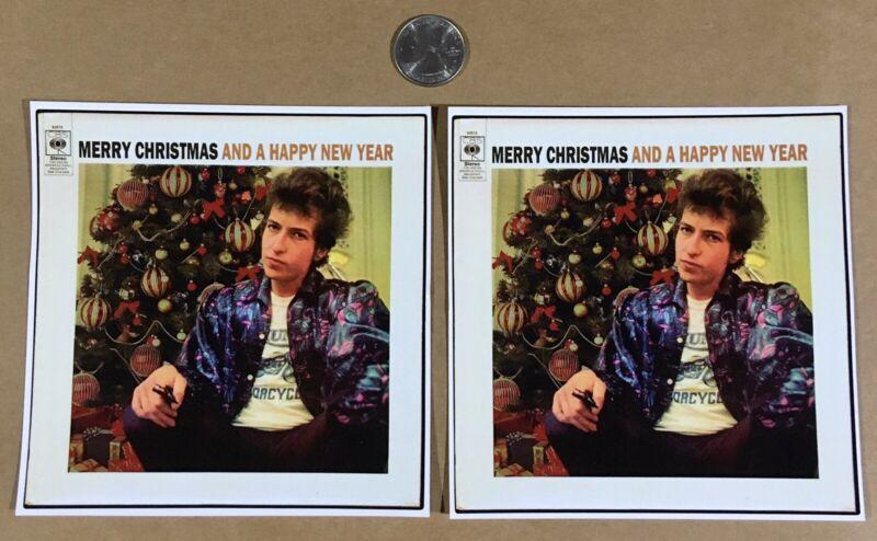 Bob Dylan Christmas Happy New Year sticker decal