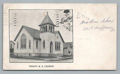 Trinity Me Church Fort Wayne Rare Early Udb Indiana Methodist Posted 1911