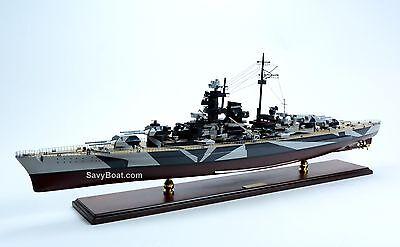 """German Battleship Tirpitz Bismarck-class Wooden Ship Model 40"""" Scale 1:250"""