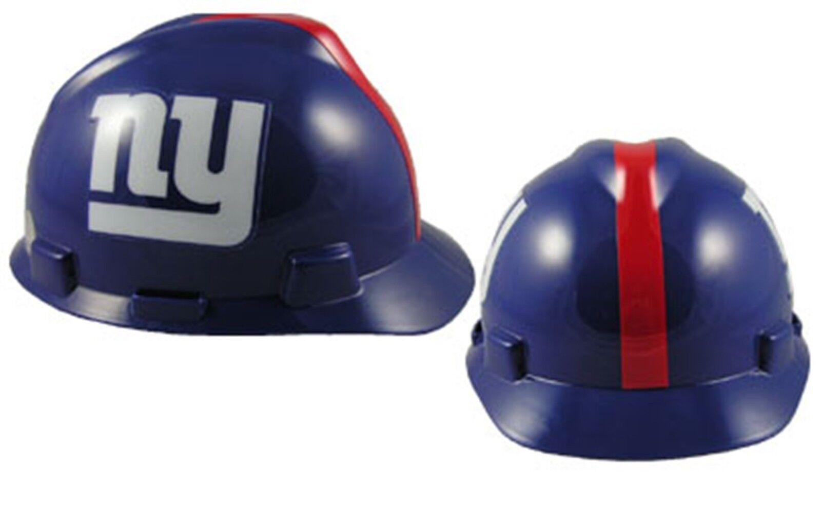 MSA V-Gard Cap Type New York Giants NFL Hard Hat Pin Type Suspension ... 36331b86324