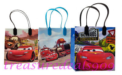 24 PCS DISNEY CARS GOODIE GIFT BAGS PARTY FAVORS CANDY PIXAR TREAT BIRTHDAY BAG