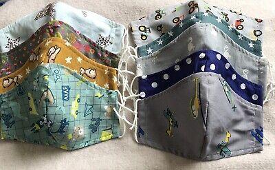 2 Stück Mundschutz Kinder/Mädchen/Jungen Baumwolle Behelfsmaske