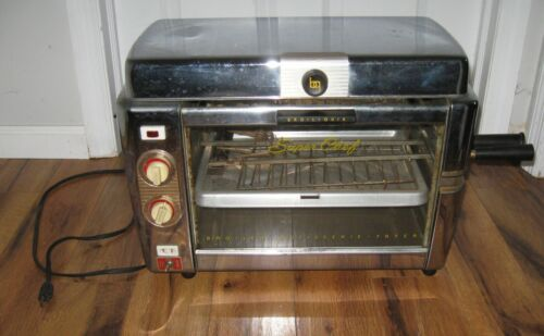 Vintage 1950s Infra Red Broil Quik Super Chef Rotisserie Broiler Combination