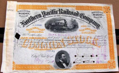 Northern Pacific Railroad Company 1880s orange