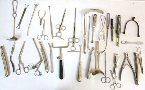 WW2 Lot OF 33 Doctor Medicine Surgical Medical Instruments Tools