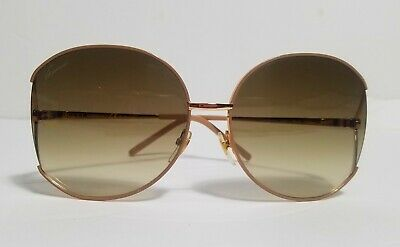 Gucci Women Sunglasses Metal Rose Gold Frame GG 4208/S 4ZGCC Rare Hard to Find
