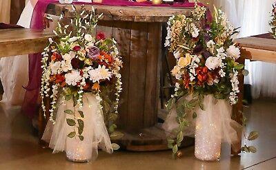 Wedding Silk Flowers Centerpieces, light up vases](Light Centerpieces)