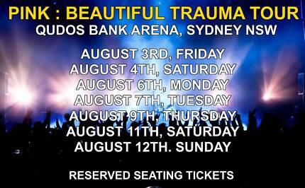 PINK BEAUTIFUL TRAUMA TOUR | SYDNEY | AUGUST 3/12 2018