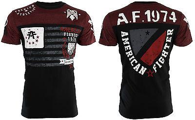 AMERICAN FIGHTER Mens T-Shirt NAZARETH Athletic BLACK RED Biker Gym MMA UFC $40