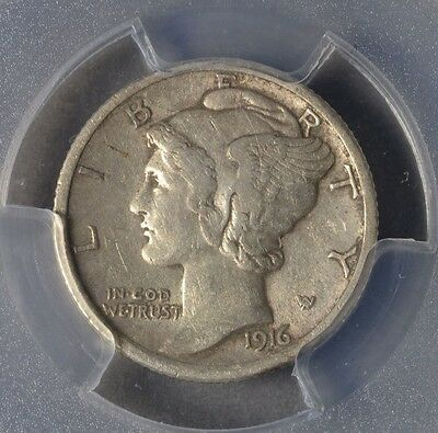 Click now to see the BUY IT NOW Price! 1916 D 10C MERCURY DIME  HARD DATE  ORIGINAL  AU50 PCGS