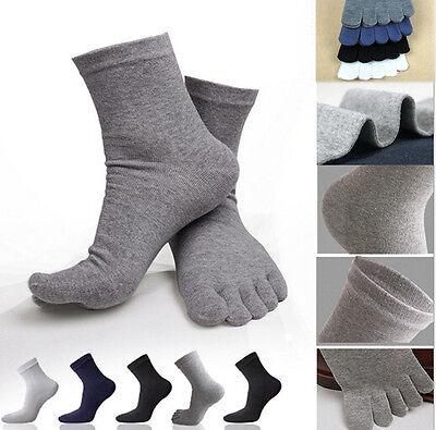 Herren Socken 5 Farbe Sportsocken Fingersocken Fivefingers Zehensocken Warm DE ()