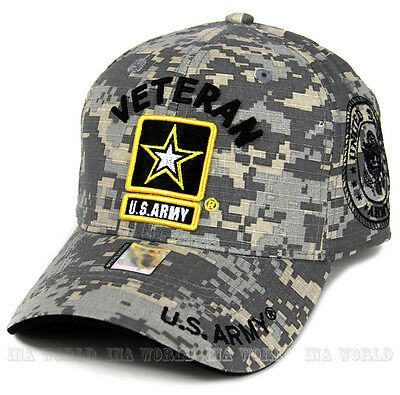 U.S. ARMY hat ARMY VETERAN Military Official Licensed Baseball cap- Digital Camo