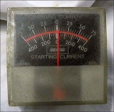 Vintage Sears Ammeter Square Plastic Gauge Steampunk