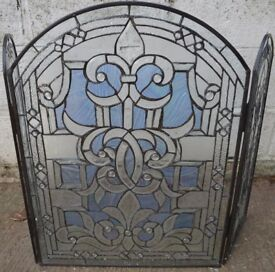 Clear Tiffany Glass Firescreen