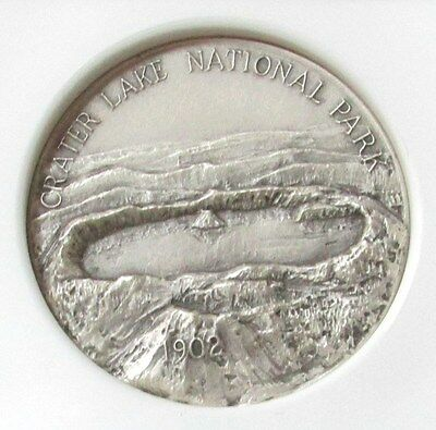 1972 Crater Lake National Park Medallic Arts Co Medal Ngc Mint State 66