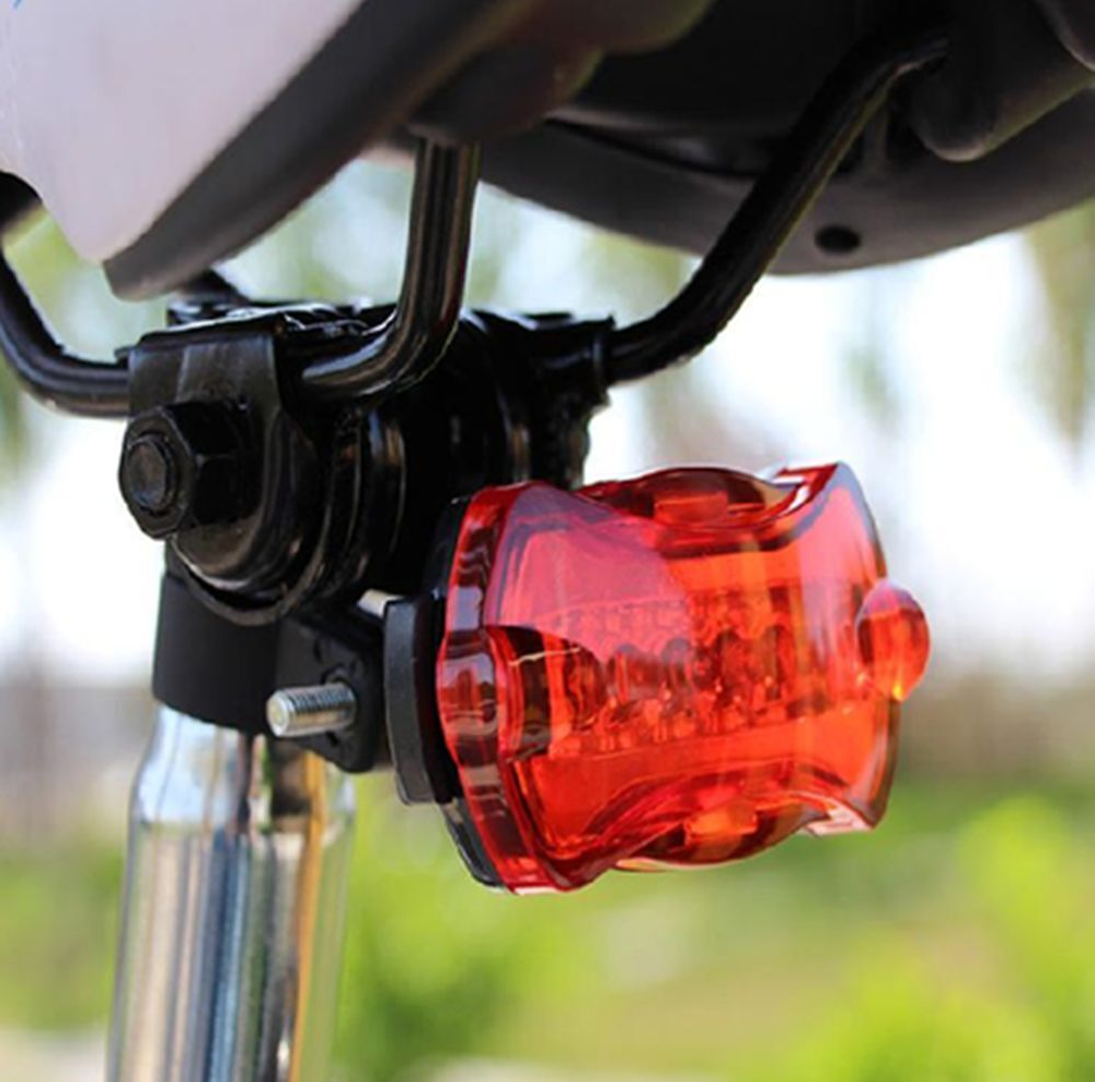 5 LED Bike Bicycle Safety Warning Tail Rear Lamp Flash Light Cycling Bright RF
