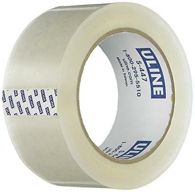 Uline Thick Packing Tape 3.5 Mil Thick 2 X 55 Yd Crystal Clear 6 Rolls S-4