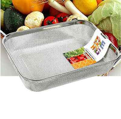 Rectangle Stainless Mesh Sink Basket Colander Strainer Kitchen Tools S Size