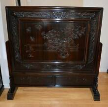 Chinese not Japanese 1930's Ebony Hardwood Rosewood Floor Screen Cleveland Redland Area Preview