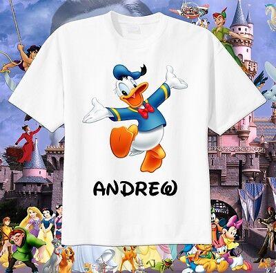 Donald Duck Custom T-Shirt Personalize Birthday Tshirt Disney World Vacation Tee