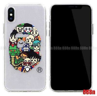 A Bathing Ape Bape Milo Dragon Ball Z Goku Phone Case For iPhone XS Max XR X 8 7