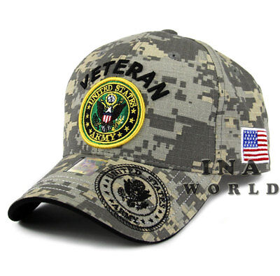 U.S. ARMY hat Military VETERAN ARMY Official Licensed Flag Baseball cap-ACU camo