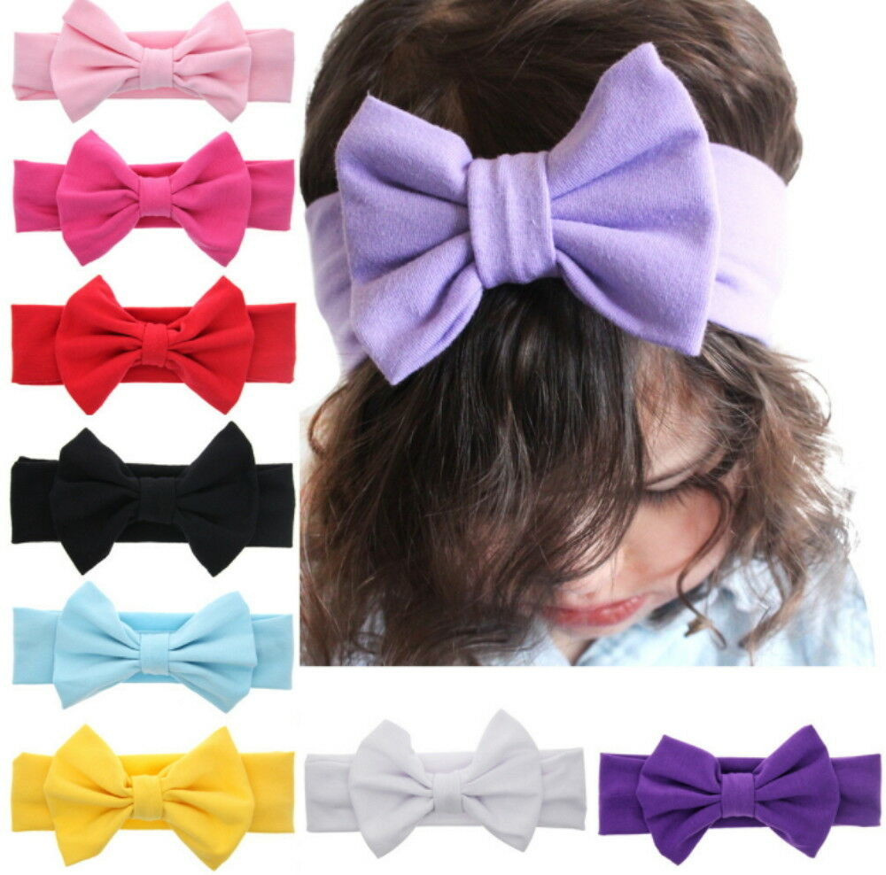 9Pc Kids Girl Baby Toddler Infant Flower Headband Hair Band Accessories Headwear Baby