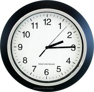 New - ATOMIC WALL CLOCKS - DEADLY ACCURATE TO THE SECOND - KEEP YOUR BUSINESS AND STAFF ON TIME !!