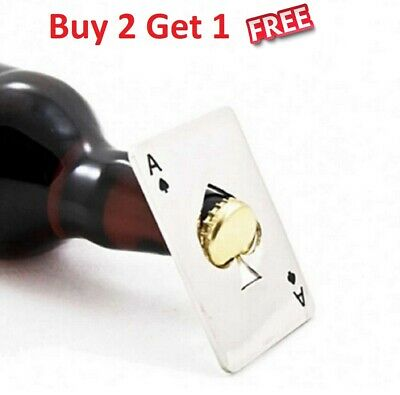 Ace Cap Opener Playing card Spades Poker Bottle Soda Beer Cap Opener Home Bar