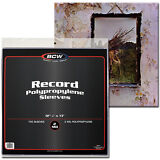"""(100) BCW RSLV 12"""" Vinyl Record Polypropylene Outer Sleeves 33RPM 2Mil Plastic"""