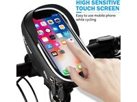 Bike Handlebar Bags Motorcycle Mobile Phone Mount for 3.5-6.5 inch Smartphone with 360 °