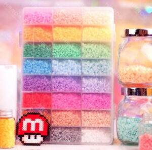 4500 perler beads 24 colors hama for designs plussize craft cute fun box set  >