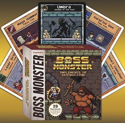 Boss Monster Implements Of Destruction Expansion Board Game Brotherwise Games Card Game Board Games
