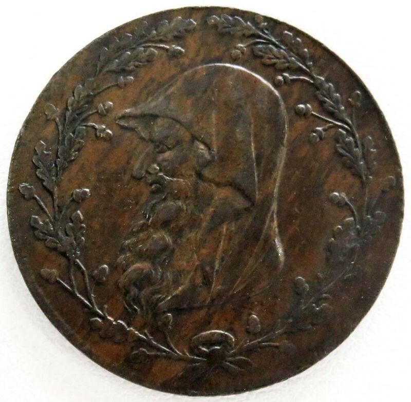 1793 GREAT BRITAIN 1/2 HALF PENNY NORTH WALES DRUID TOKEN D&H 1