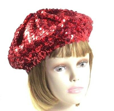 Red Sequin Beret Tam Hat Society - Red Sequin Hat