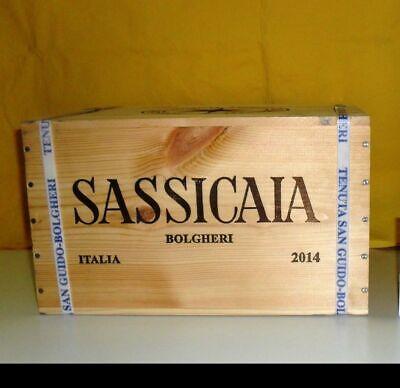 SASSICAIA 2014 CASSA DA 6 BOTTIGLIE 0,75LT SIGILLATA BOLGHERI TENUTA SAN GUIDO