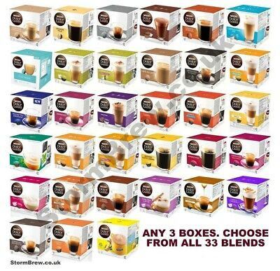 3 BOXES OF NESCAFE DOLCE GUSTO COFFEE  PODS, CAPSULES. EVERY BLEND!!