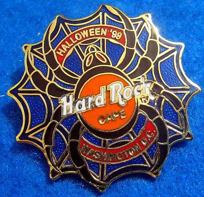 WASHINGTON PROTOTYPE HALLOWEEN BLACK WIDOW SPIDER WEB LOGO 99 Hard Rock Cafe PIN (99 Restaurant Halloween)