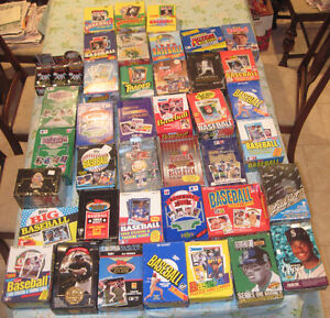 EX -  HUSBANDS SEALED OLD BASEBALL CARD PACKS HUGE LIQUIDATION SALE - 100 CARDS