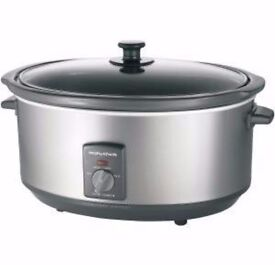 Morphy Richards 6.5L Stainless Steel Slow Cooker, 2 years guarantee