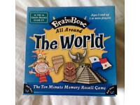 BrainBox All Around The World Ten Minute Memory Recall Game. Complete And VGC.