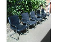 5 Black Dining chairs/Faux Leather/Croydon/Surrey/London/Home/Office