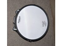 Roland V Drums PD-125XS SNARE BLUE 12 inch Dual Trigger Mesh Electronic pad SUPERB