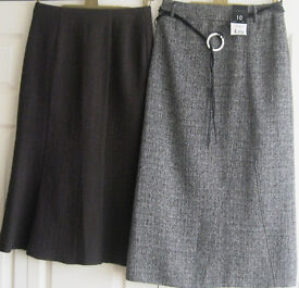 Skirts, sizes 8, 10, 12 and 18, some New. £1.25 - £5