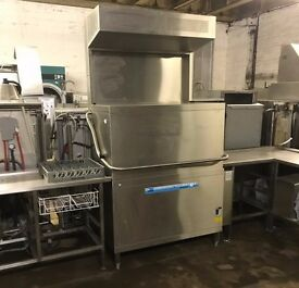 MIEKO D200 Double Pass Through Dish Washer with Condensing Hood