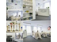 Salon receptionist - Lady Lash Manchester studio. Full time. Permanent .
