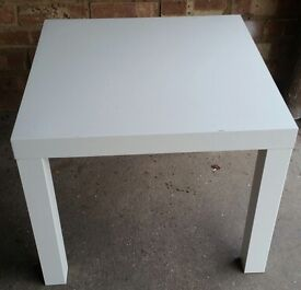 White lack table IKEA 55x55cm
