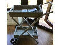 Gardeners Eden wicker pvc bar Servicing trolly Rrp £250 new with tags