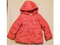 Girl's Mothercare Coat - Size 4-5 years