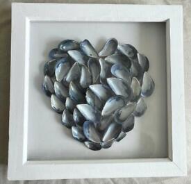 Handmade shell and seaglass frames